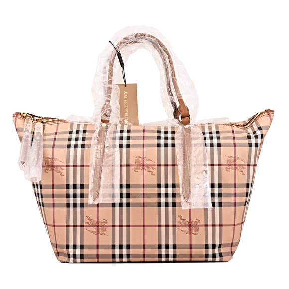 2898087fe53a New Burberry Medium Salisbury Haymarket Check Tote